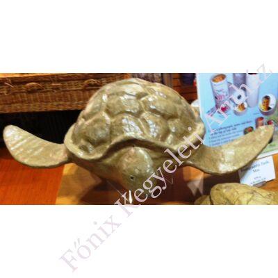 Teknősbéka alakú urna vízi temetéshez - barna (gyermek méret, vagy relikvia)