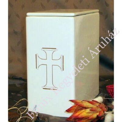 Iker fehér urna vastag kereszt