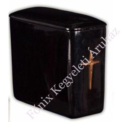 Egyszerű fekete keresztes, ikerurna