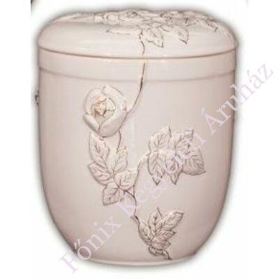 Futórózsás fehér urna