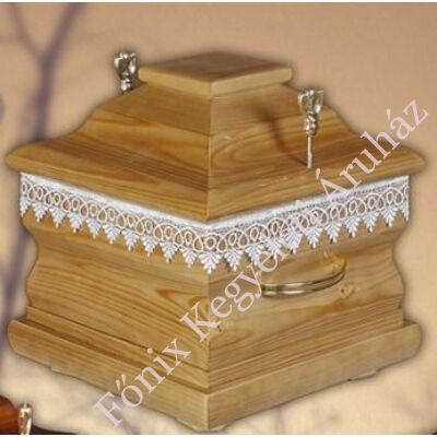 Mátra négyszögletű fa urnakoporsó-mogyoró
