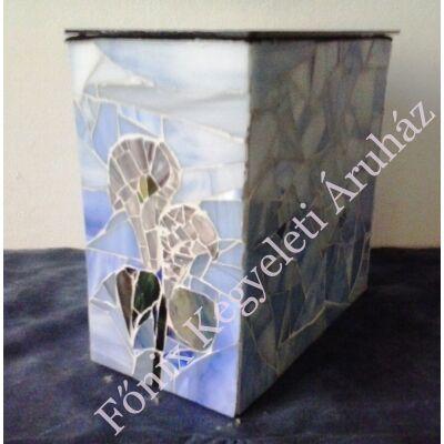 Kálás üvegmozaik urna - világoskék