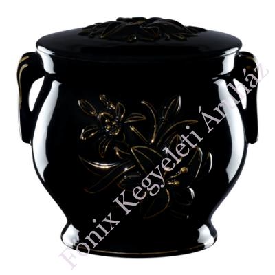 Fekete füles urna liliommal