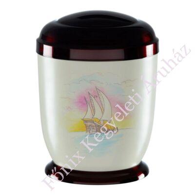 Vitorlás hajós fém urna