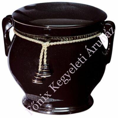 Fekete kerek urna arany színű zsinórral
