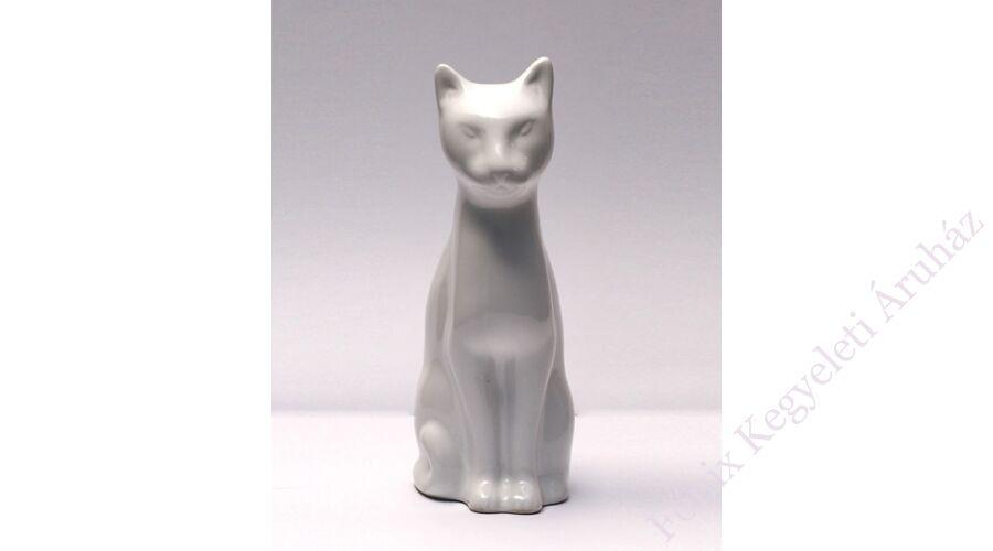 384e09bf06 Fehér macska kerámia ereklyetartó, mini urna - Macska urna ...